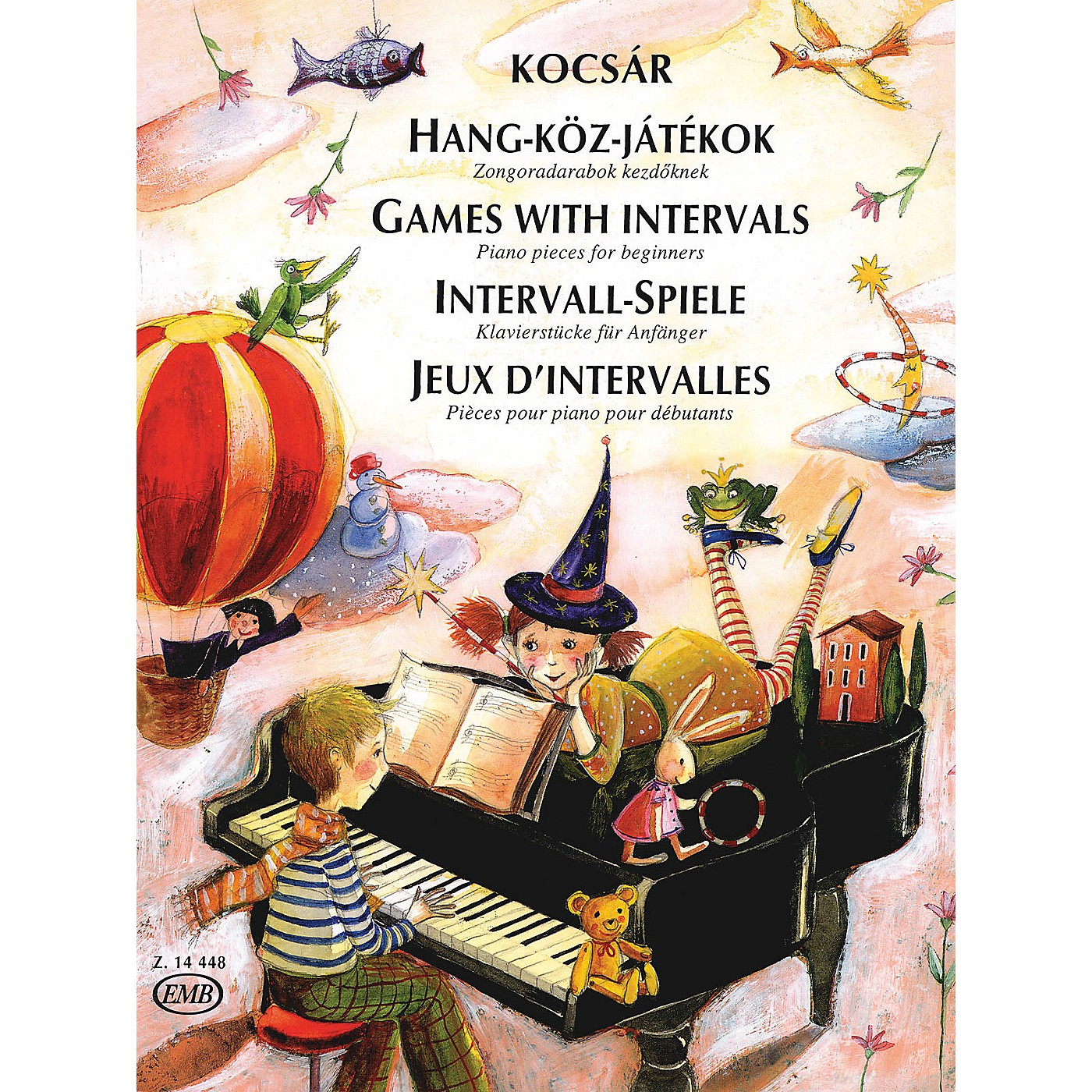 Editio Musica Budapest Games with Intervals (30 Piano Pieces for Beginners) EMB Series thumbnail