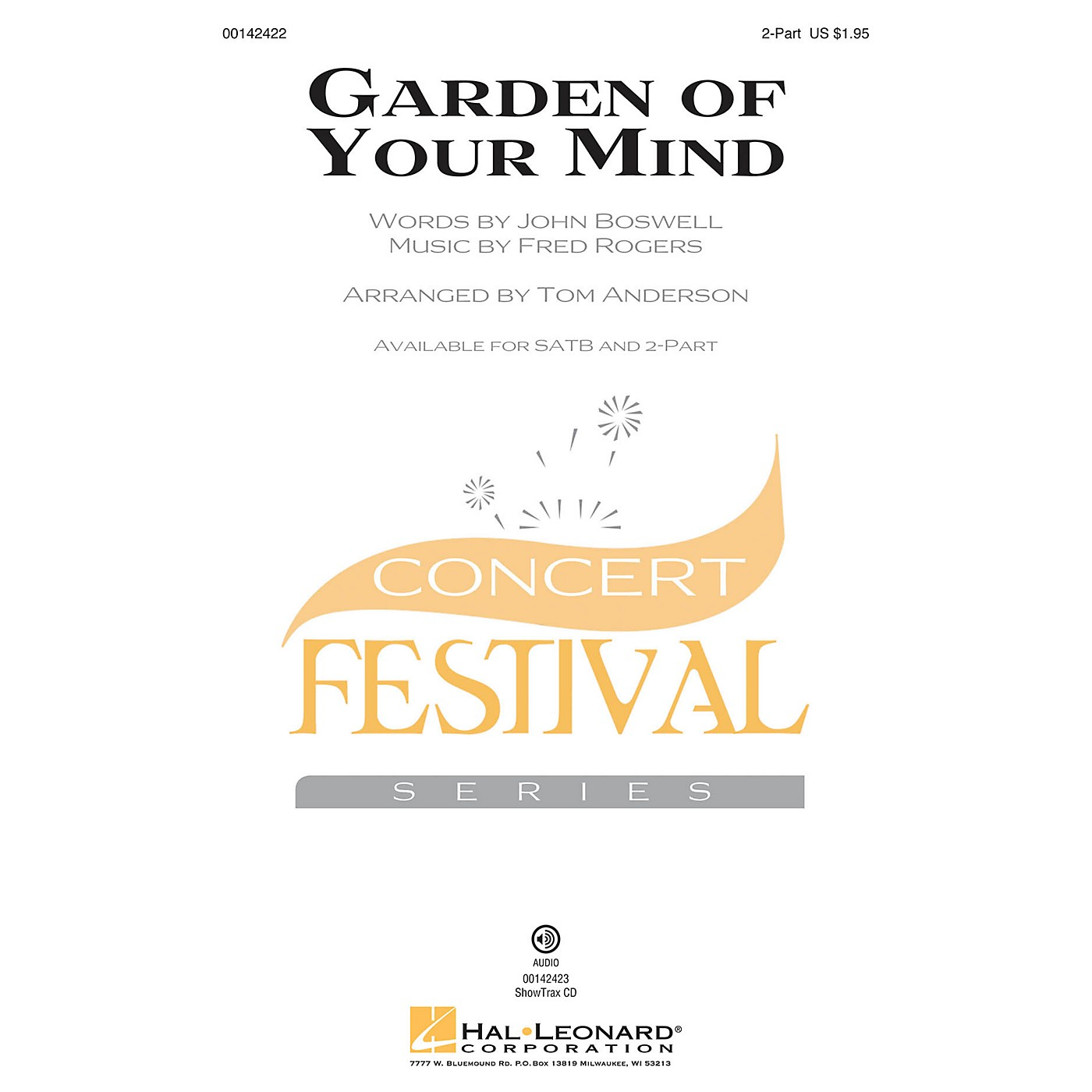 Hal Leonard Garden of Your Mind 2-Part by Fred Rogers arranged by Tom Anderson thumbnail