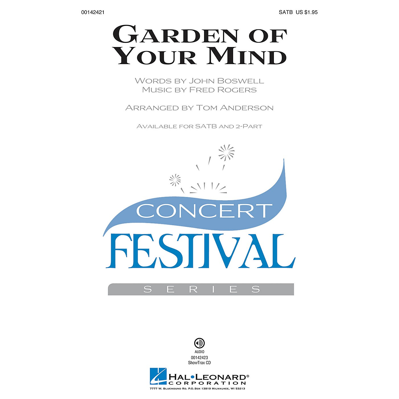 Hal Leonard Garden of Your Mind SATB by Fred Rogers arranged by Tom Anderson thumbnail
