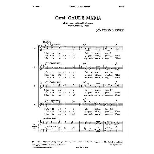 Novello Gaude Maria SATB Composed by Jonathan Harvey thumbnail