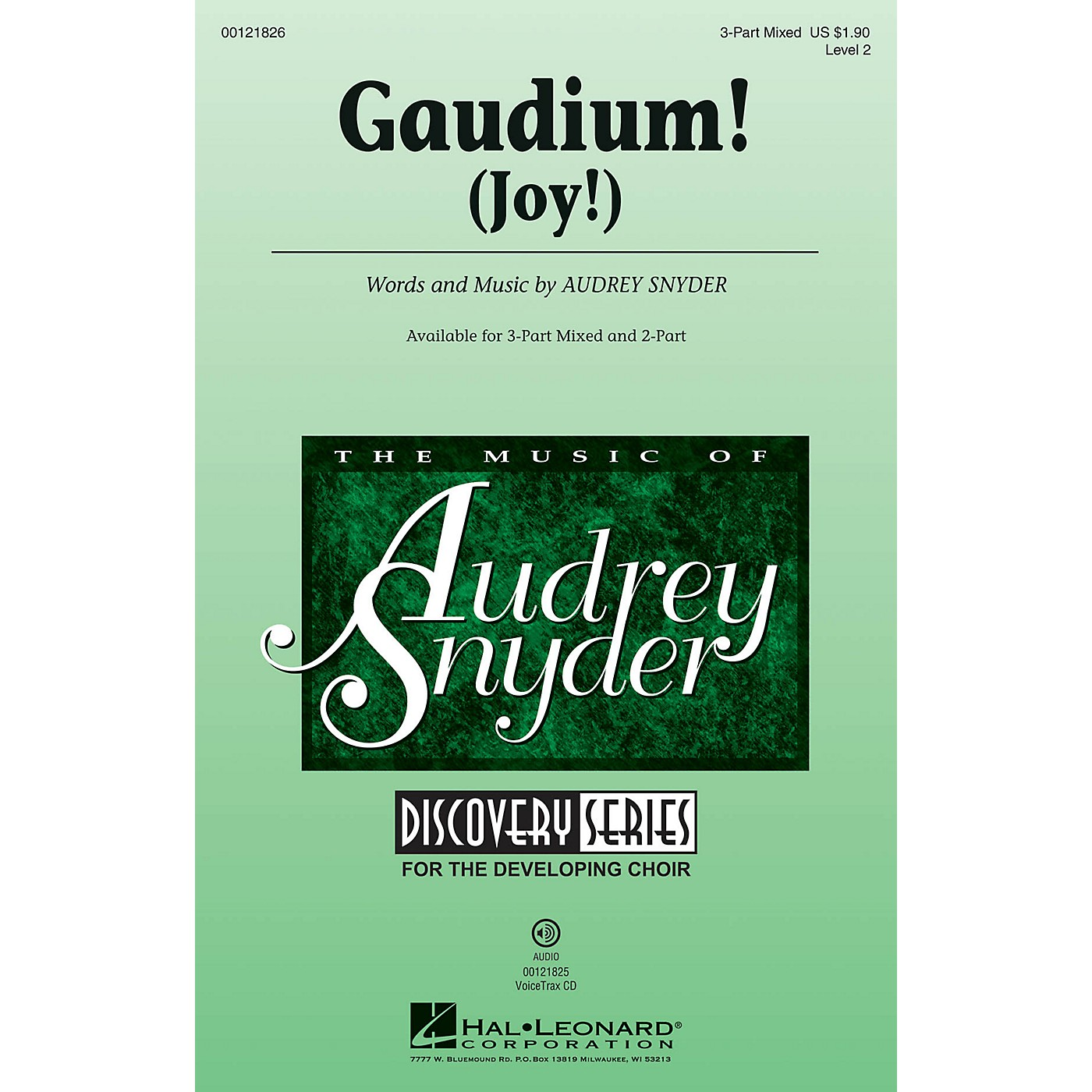 Hal Leonard Gaudium! (Discovery Level 2) 3-Part Mixed composed by Audrey Snyder thumbnail