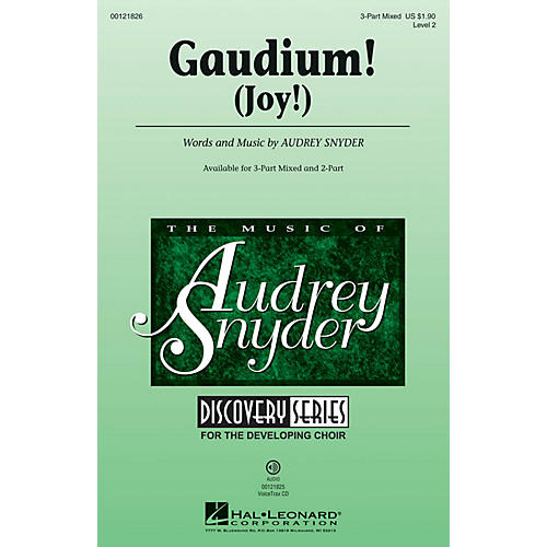 Hal Leonard Gaudium! (Discovery Level 2) VoiceTrax CD Composed by Audrey Snyder thumbnail