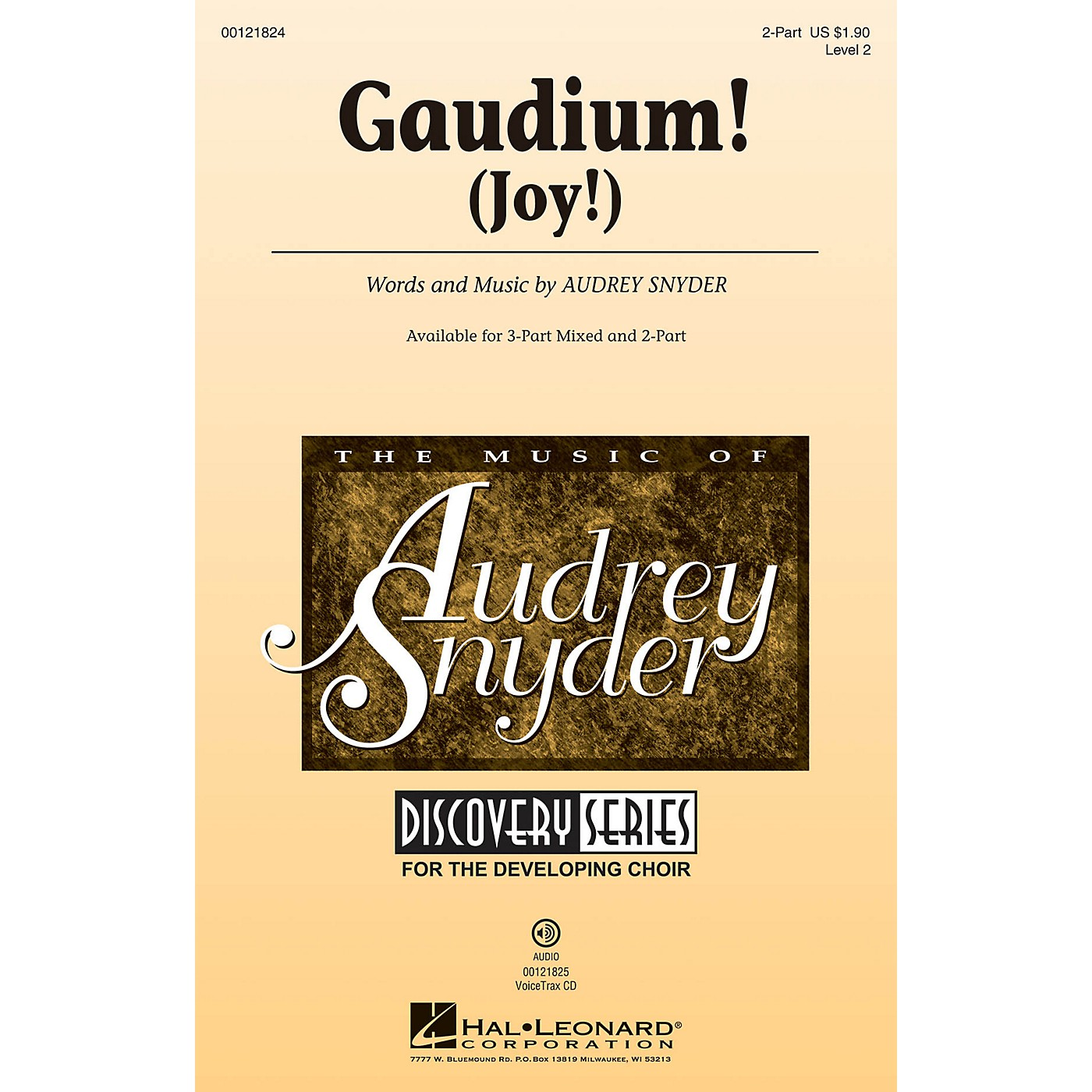Hal Leonard Gaudium! (Joy!) Discovery Level 2 2-Part composed by Audrey Snyder thumbnail
