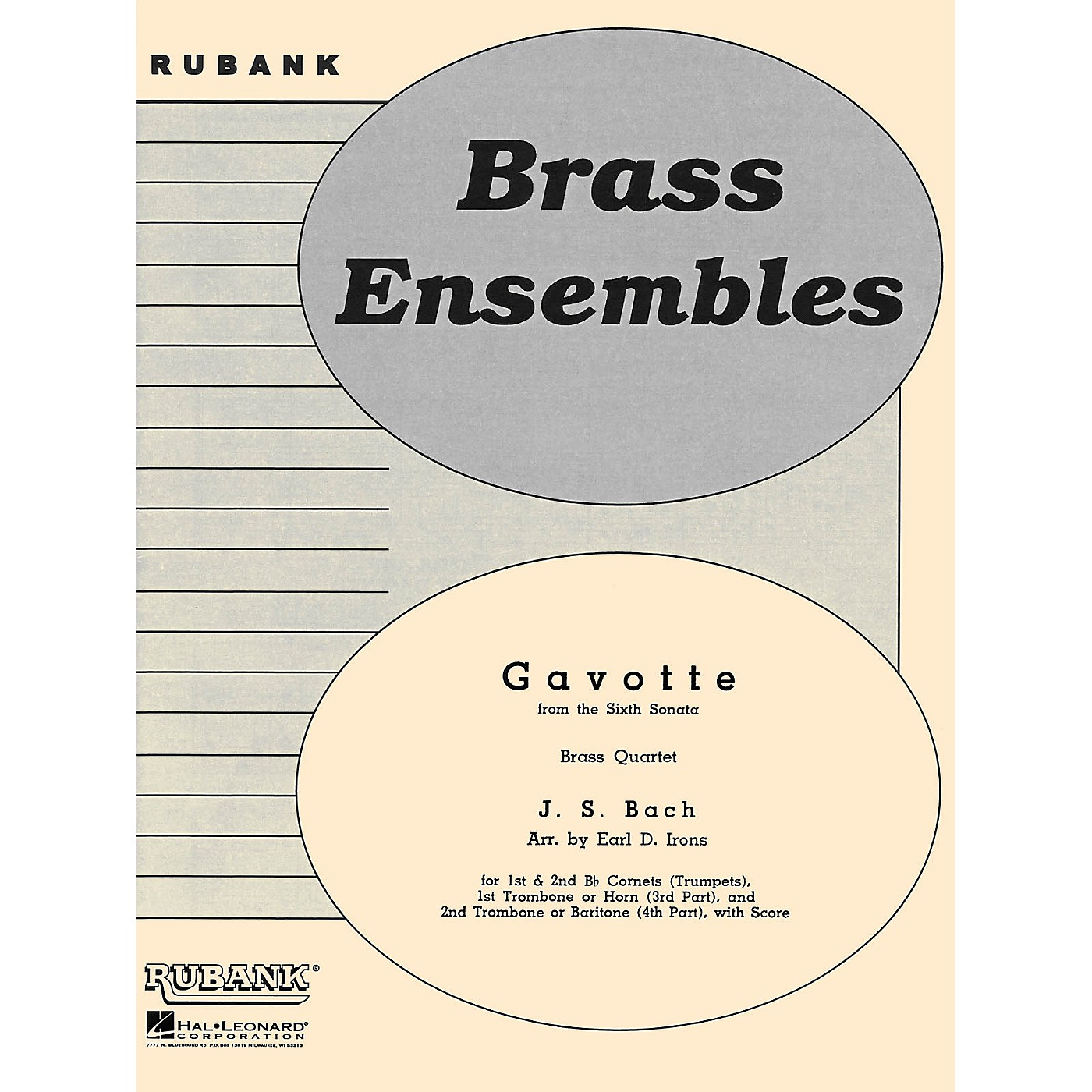 Rubank Publications Gavotte from the Sixth Sonata (Brass Quartet - Grade 2) Rubank Solo/Ensemble Sheet Series thumbnail