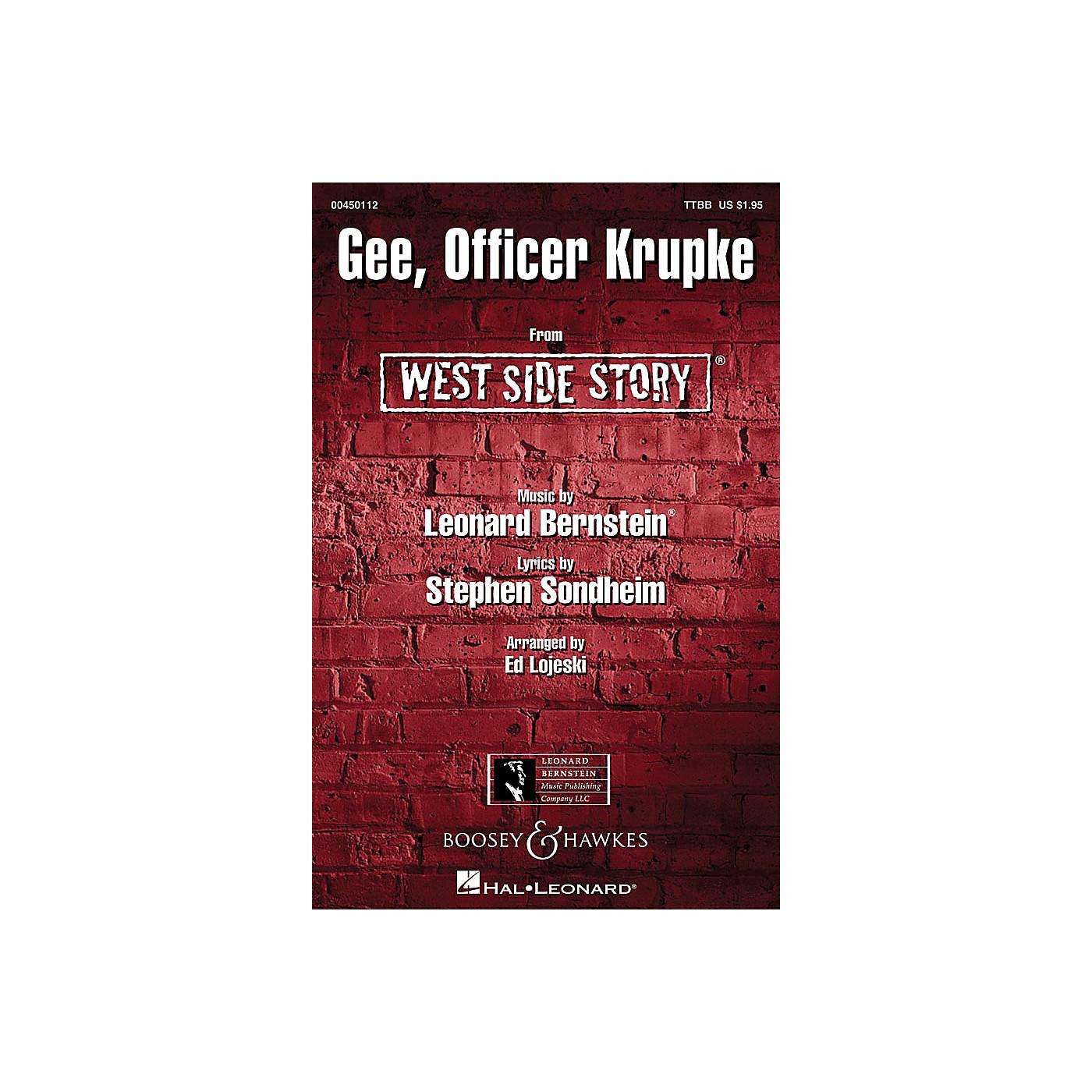Hal Leonard Gee, Officer Krupke (from West Side Story) ShowTrax CD Arranged by Ed Lojeski thumbnail