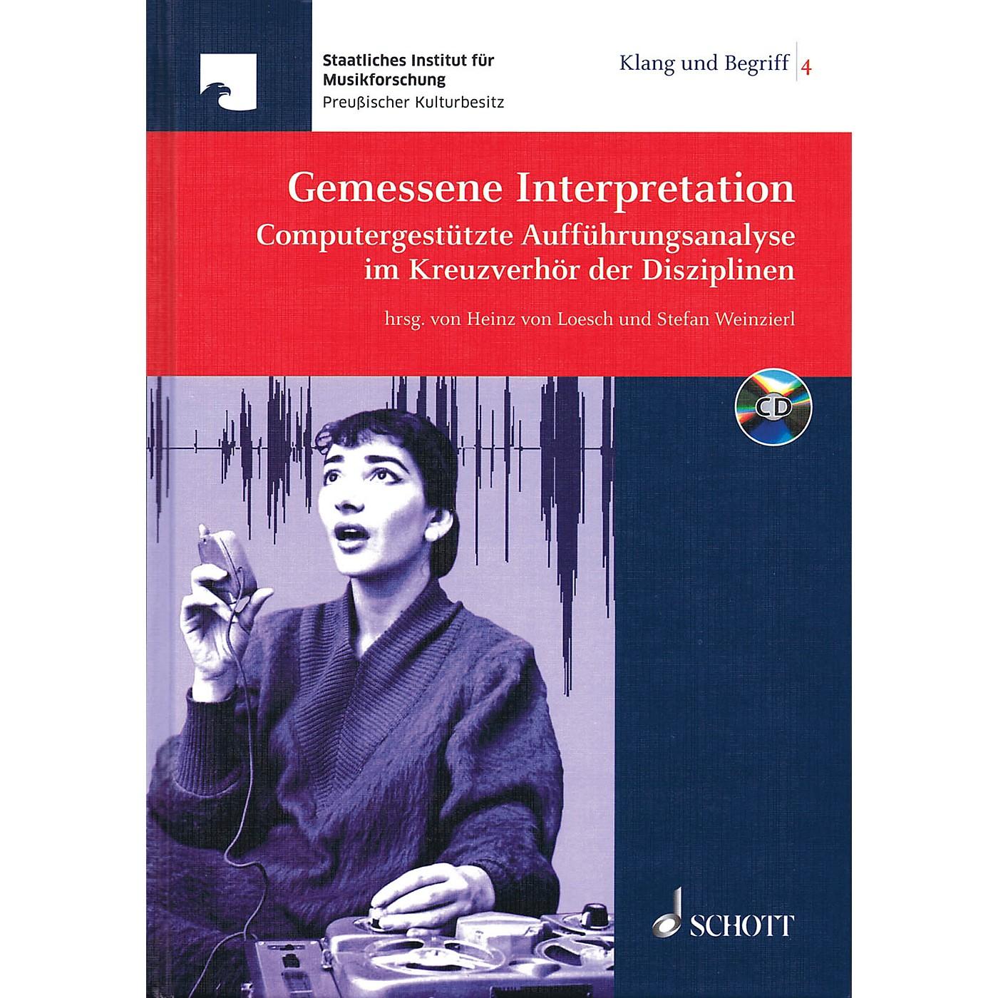 Schott Gemessene Interpretation Schott Series Hardcover with CD thumbnail