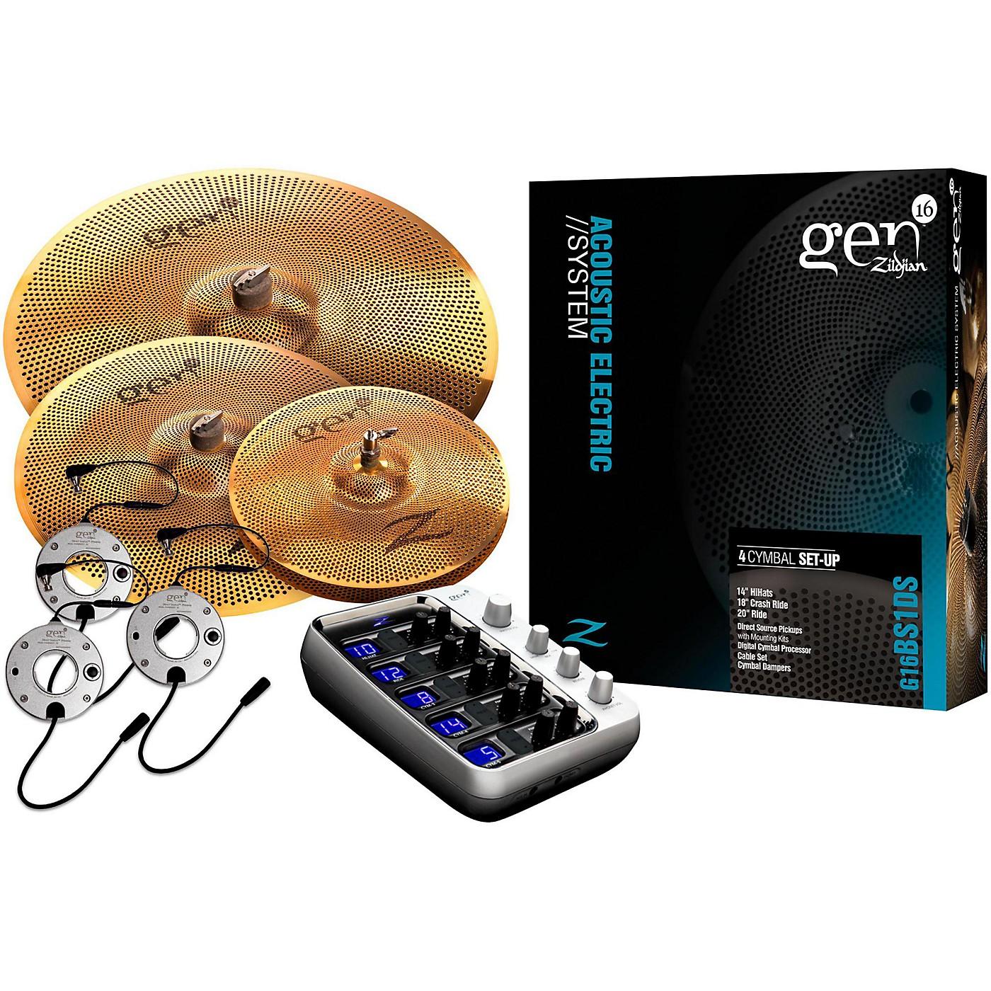 Zildjian Gen16 Buffed Bronze 14/18/20 Acoustic-Electric Cymbal Pack thumbnail