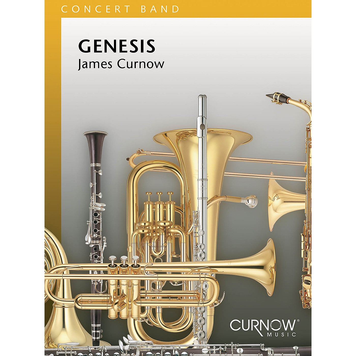Curnow Music Genesis (Grade 3 - Score Only) Concert Band Level 3 Composed by James Curnow thumbnail