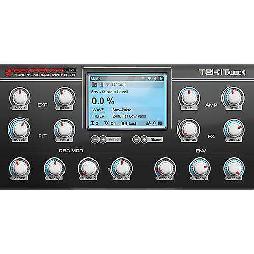 Tek'it Audio Genobazz Pro Monophonic Virtual Synthesizer Plug-in Software Download thumbnail