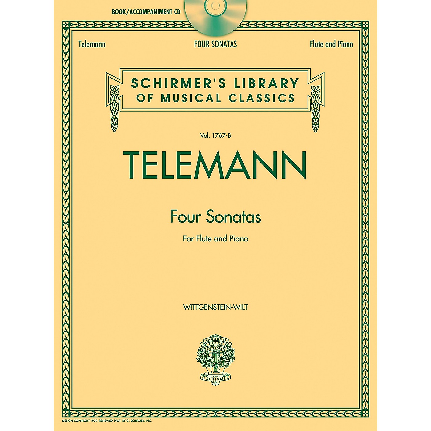 G. Schirmer Georg Phillip Telemann - Four Sonatas For Flute And Piano Book/CD thumbnail