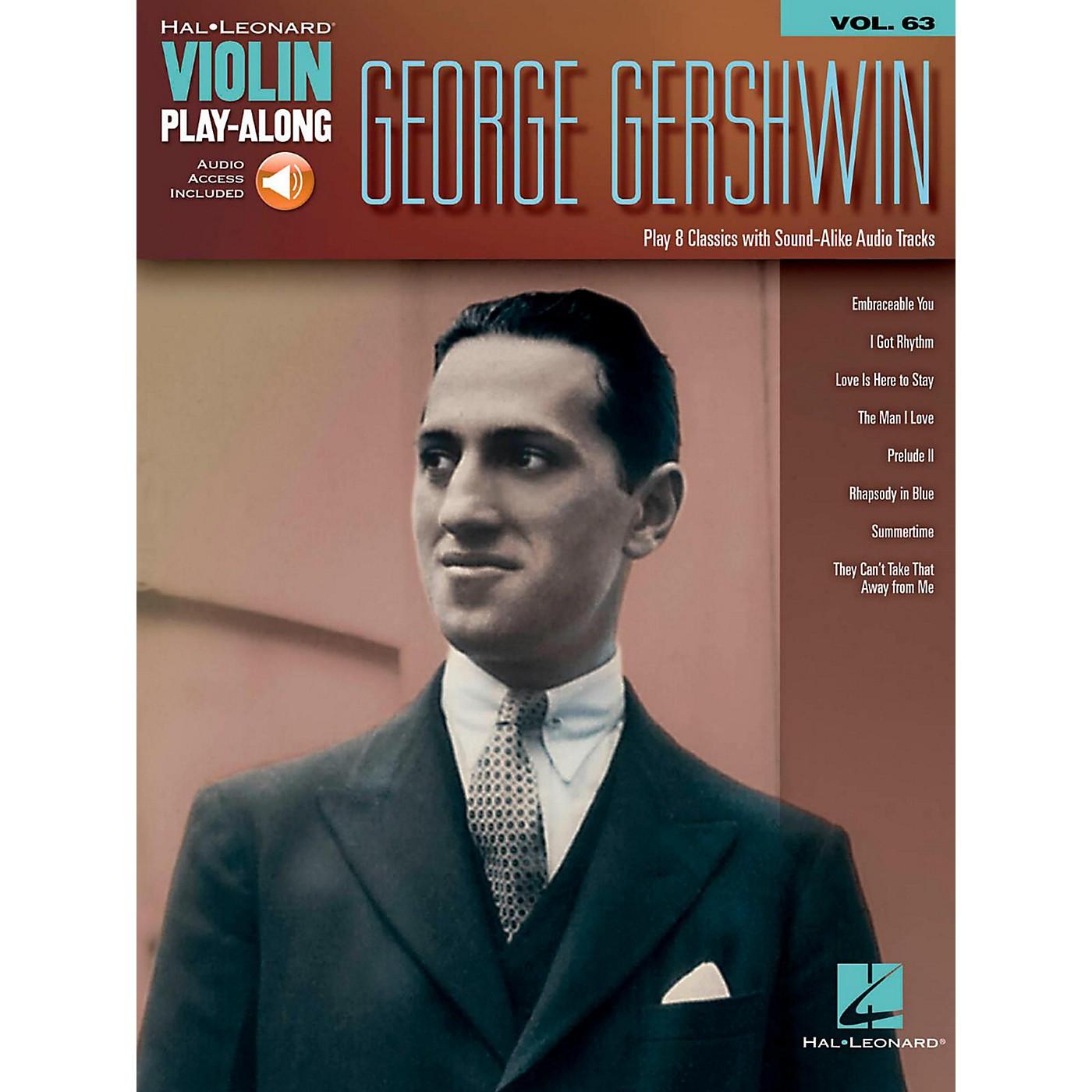 Hal Leonard George Gershwin - Violin Play-Along Volume 63 (Book/Audio Online) thumbnail