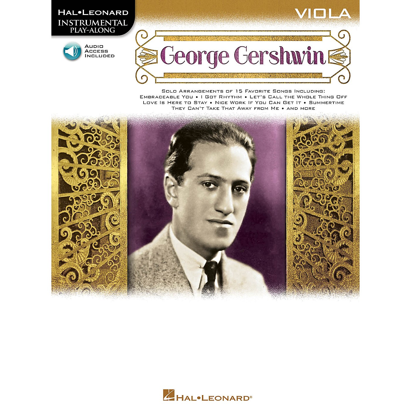 Hal Leonard George Gershwin (Instrumental Play-Along for Viola) Instrumental Play-Along Series Softcover Audio Online thumbnail
