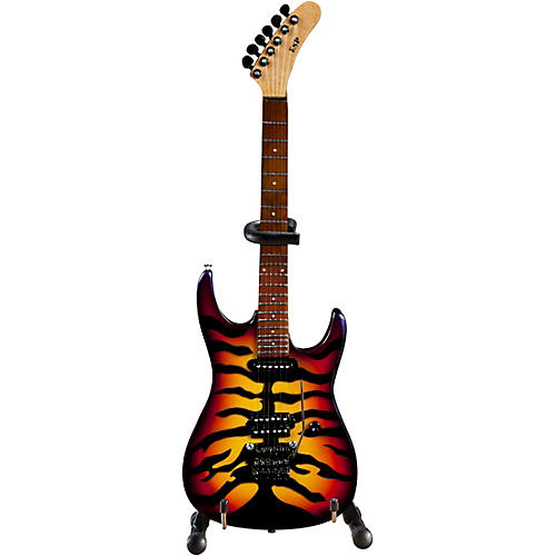 Axe Heaven George Lynch - Sunburst Tiger Finish Officially Licensed Miniature Guitar Replica thumbnail