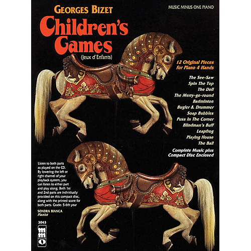 Music Minus One Georges Bizet - Children's Games (Jeux d'Enfants) Music Minus One Softcover with CD by Georges Bizet thumbnail
