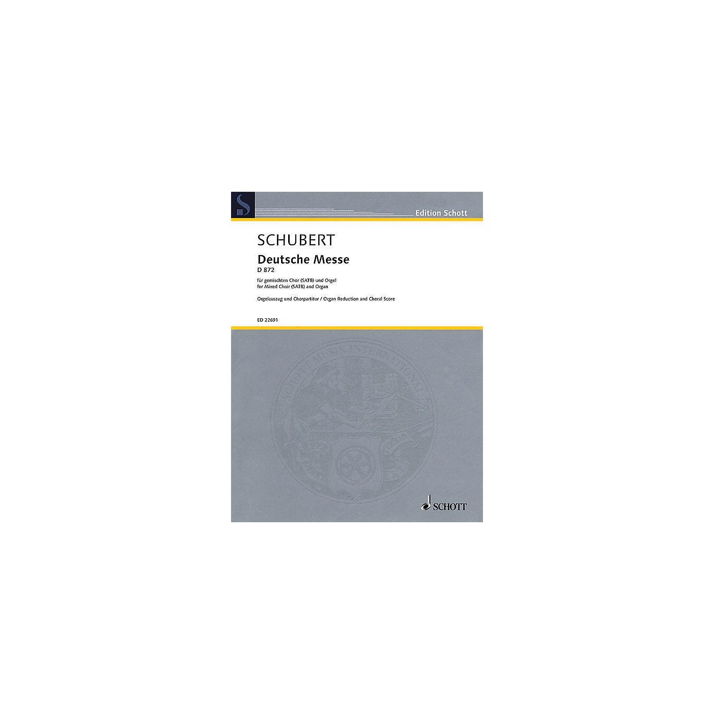 Schott German Mass, D 872 (for SATB and Organ) SATB, Organ thumbnail