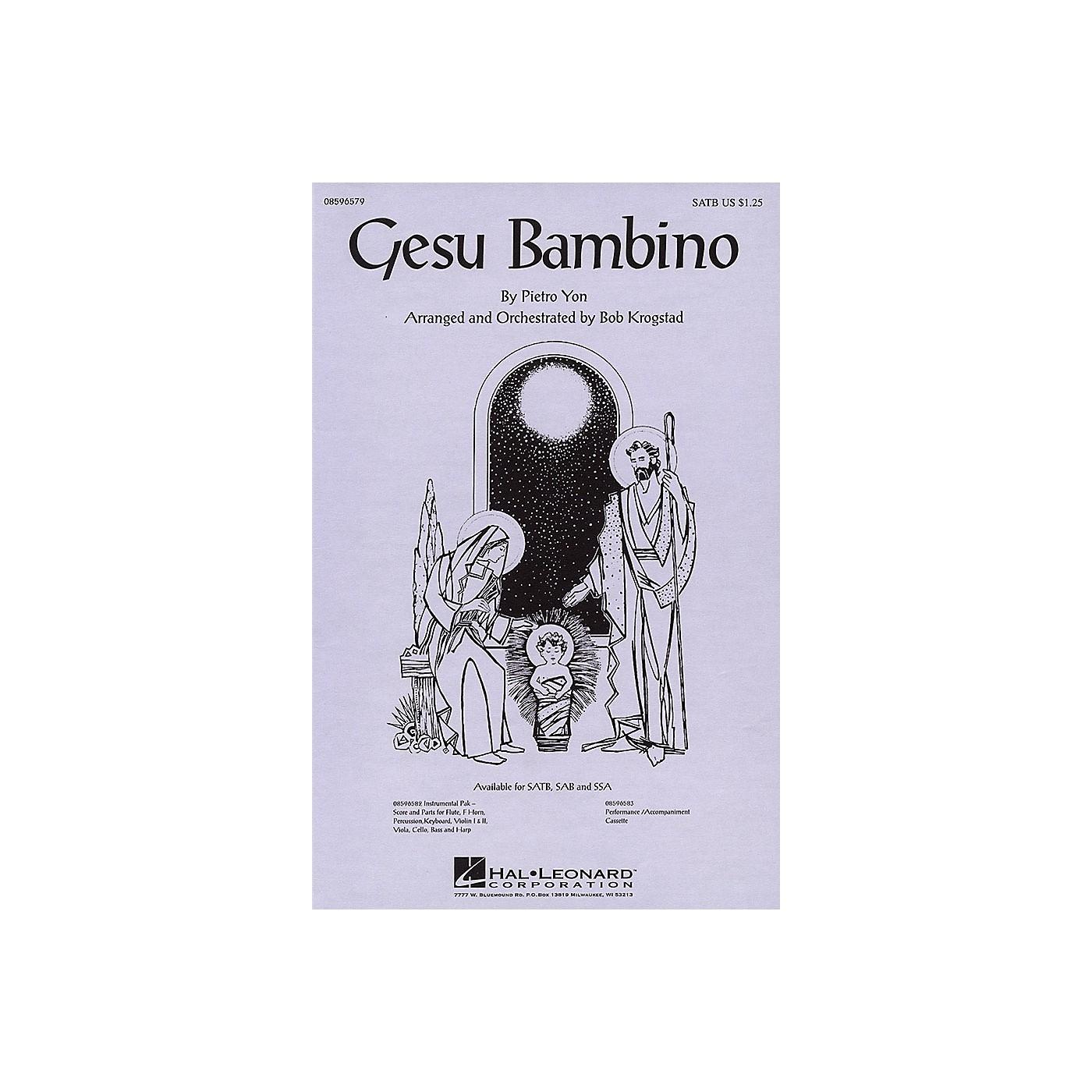 Hal Leonard Gesu Bambino SSA Arranged by Bob Krogstad thumbnail