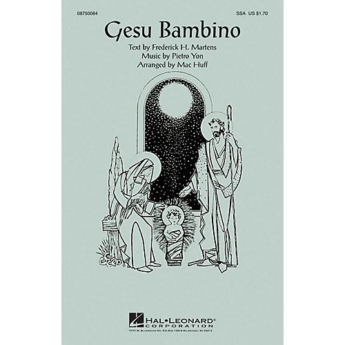 Hal Leonard Gesu Bambino SSA arranged by Mac Huff thumbnail