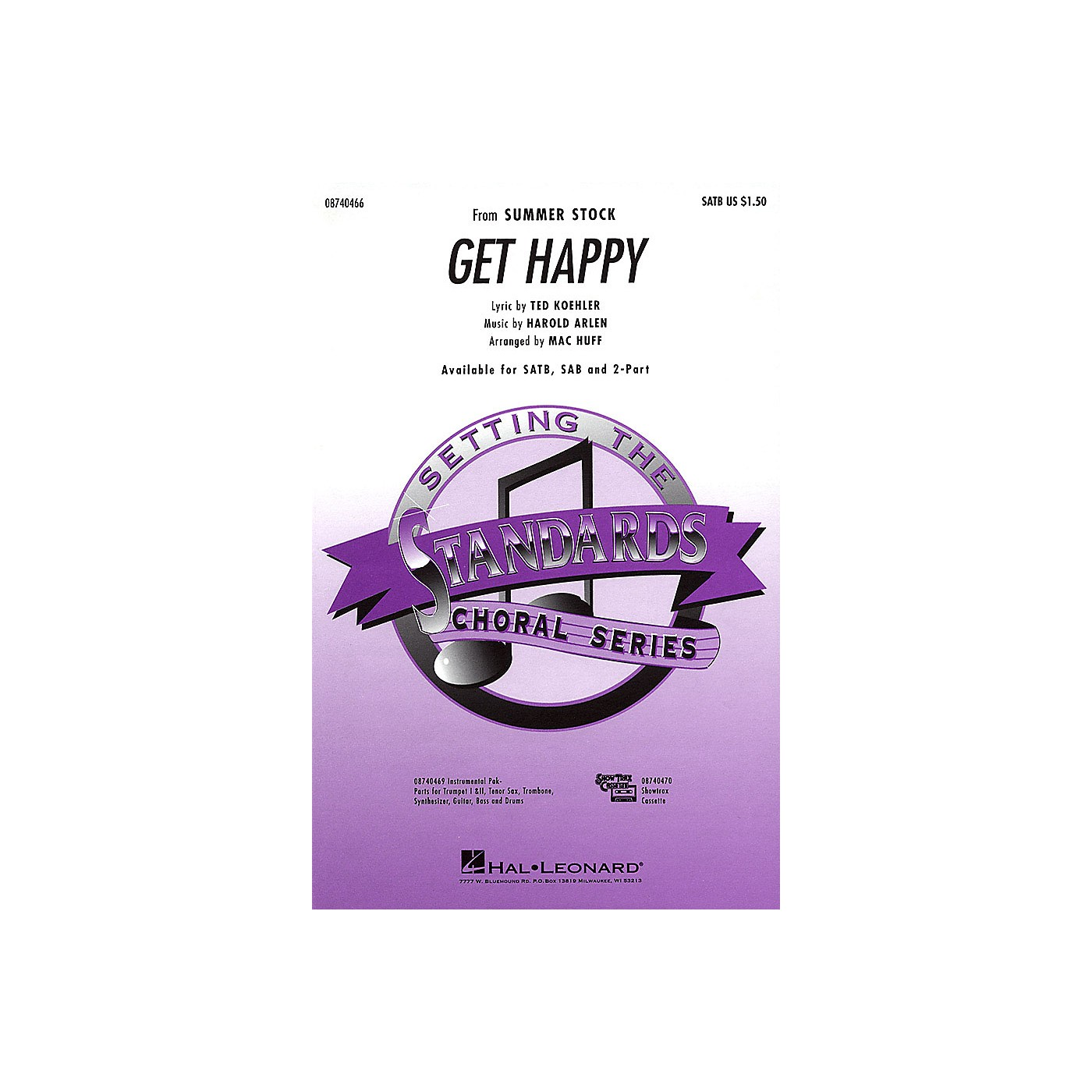 Hal Leonard Get Happy Combo Parts Arranged by Mac Huff thumbnail