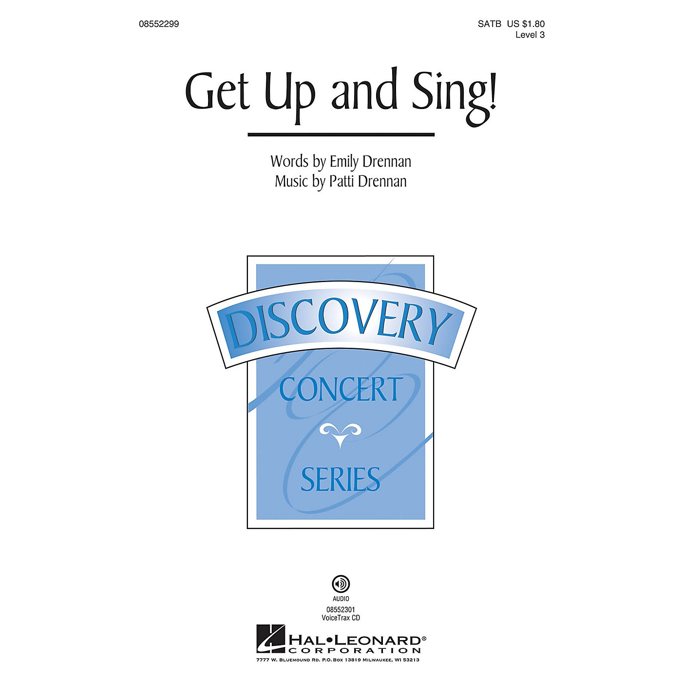 Hal Leonard Get Up and Sing! (Discovery Level 3) VoiceTrax CD Arranged by Patti Drennan thumbnail