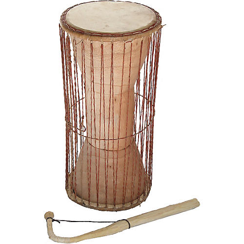 Overseas Connection Ghana Talking Drum with Stick-thumbnail