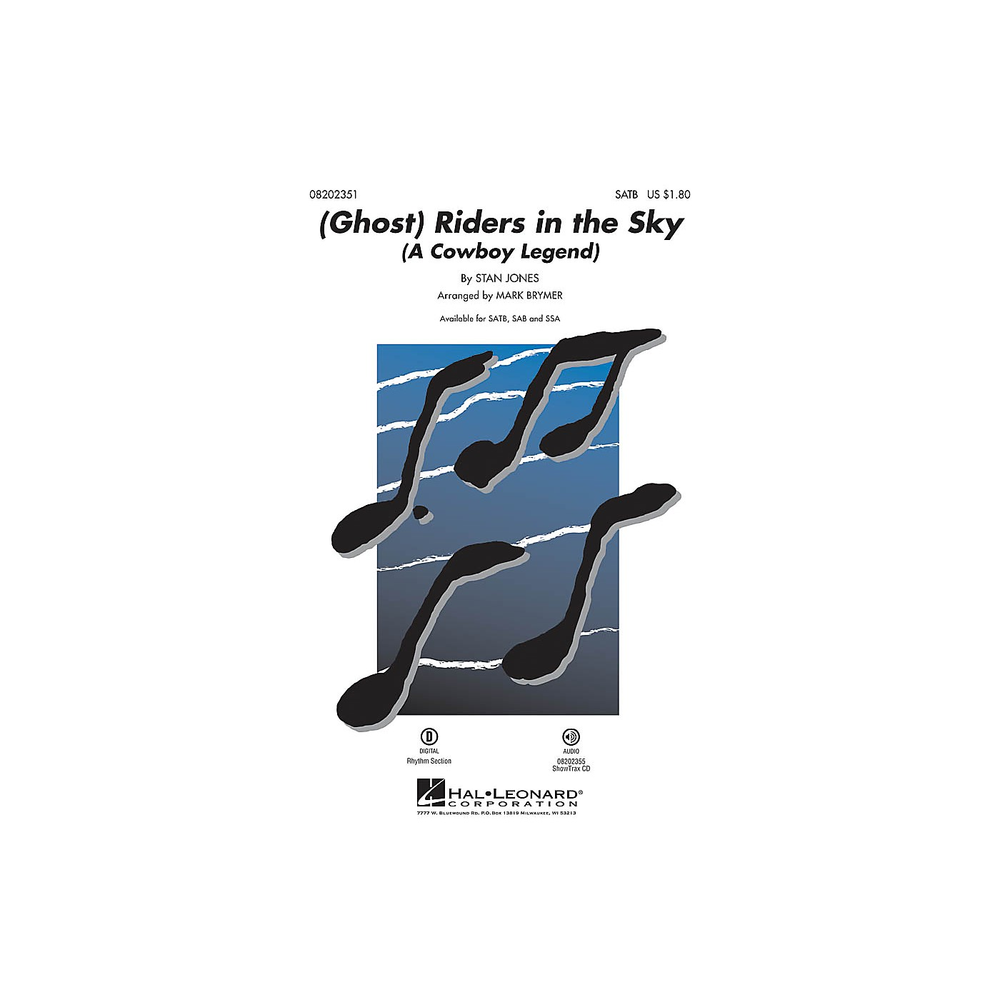 Hal Leonard (Ghost) Riders in the Sky (A Cowboy Legend) ShowTrax CD Arranged by Mark Brymer thumbnail