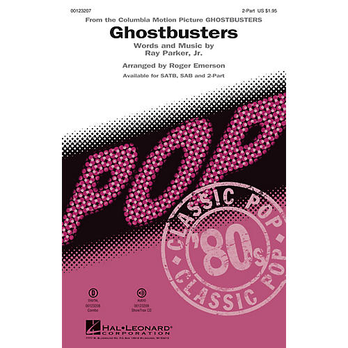 Hal Leonard Ghostbusters 2-Part arranged by Roger Emerson thumbnail