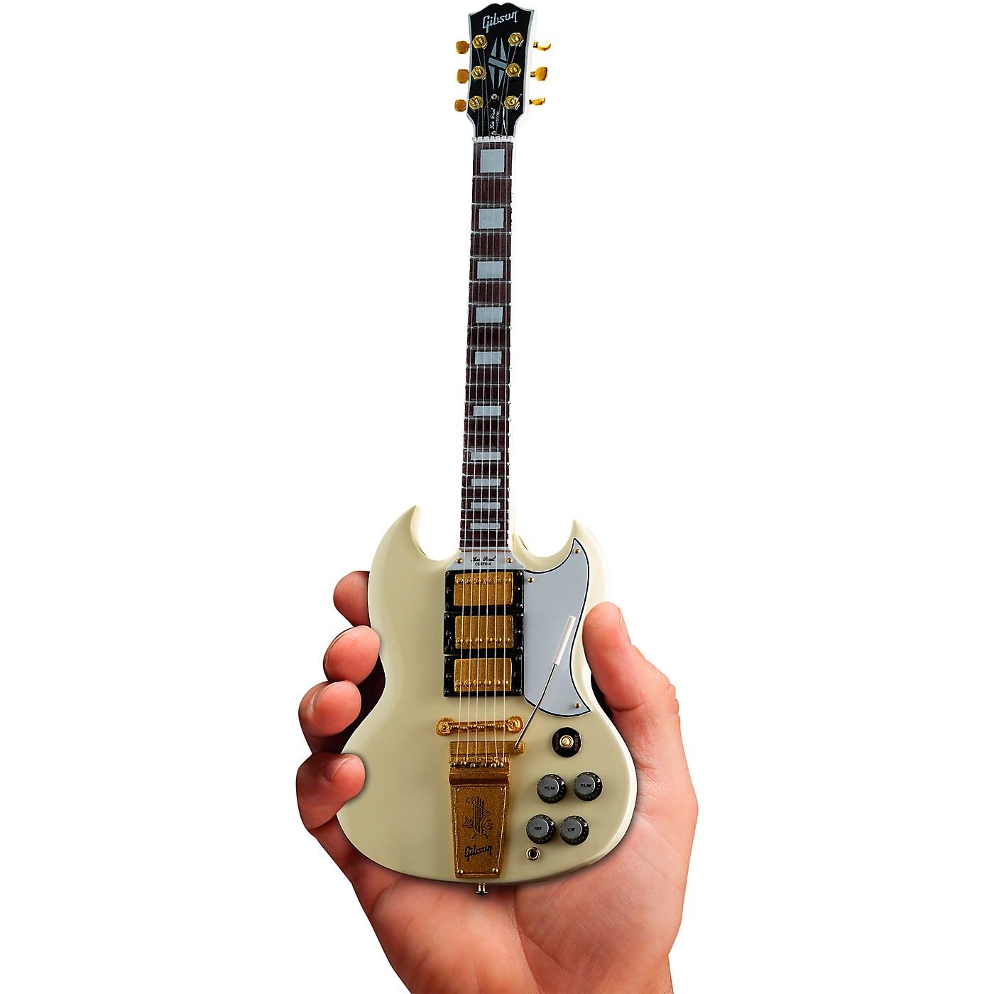 Axe Heaven Gibson 1964 SG Custom White Officially Licensed Miniature Guitar Replica thumbnail