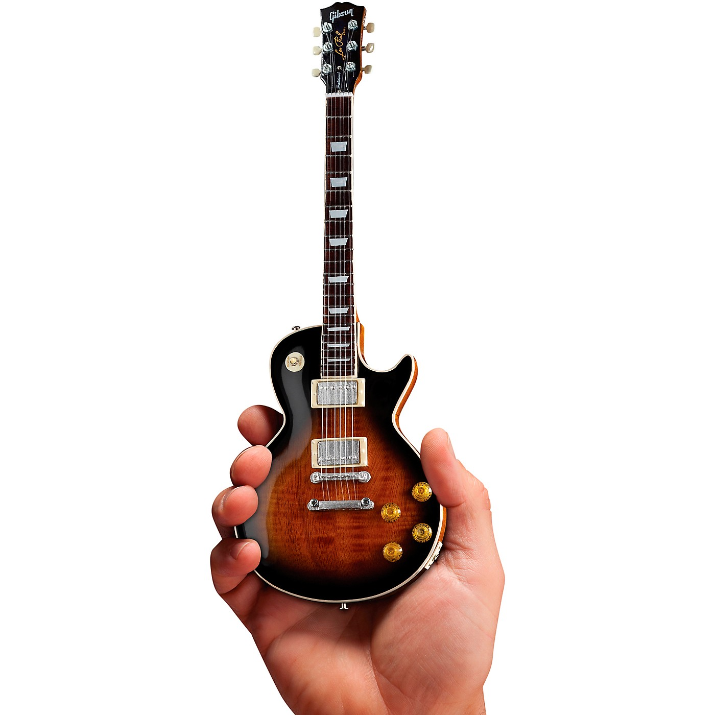 Axe Heaven Gibson Les Paul Traditional Tobacco Burst Officially Licensed Miniature Guitar Replica thumbnail