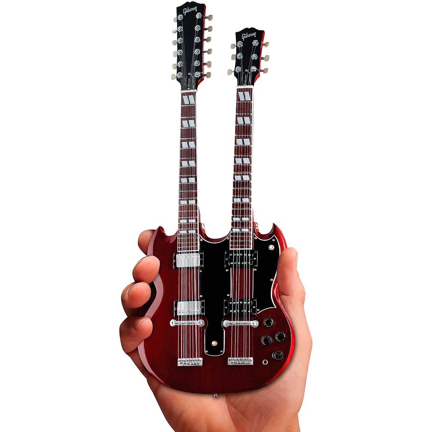 Axe Heaven Gibson SG EDS-1275 Doubleneck Cherry Officially Licensed Miniature Guitar Replica thumbnail