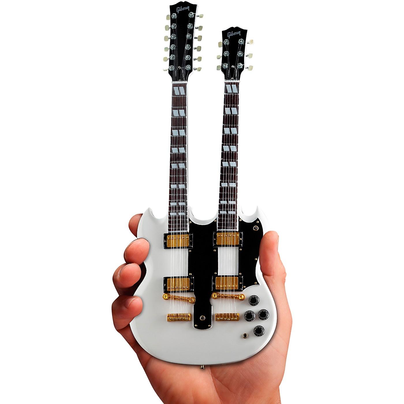 Axe Heaven Gibson SG EDS-1275 Doubleneck White Officially Licensed Miniature Guitar Replica thumbnail