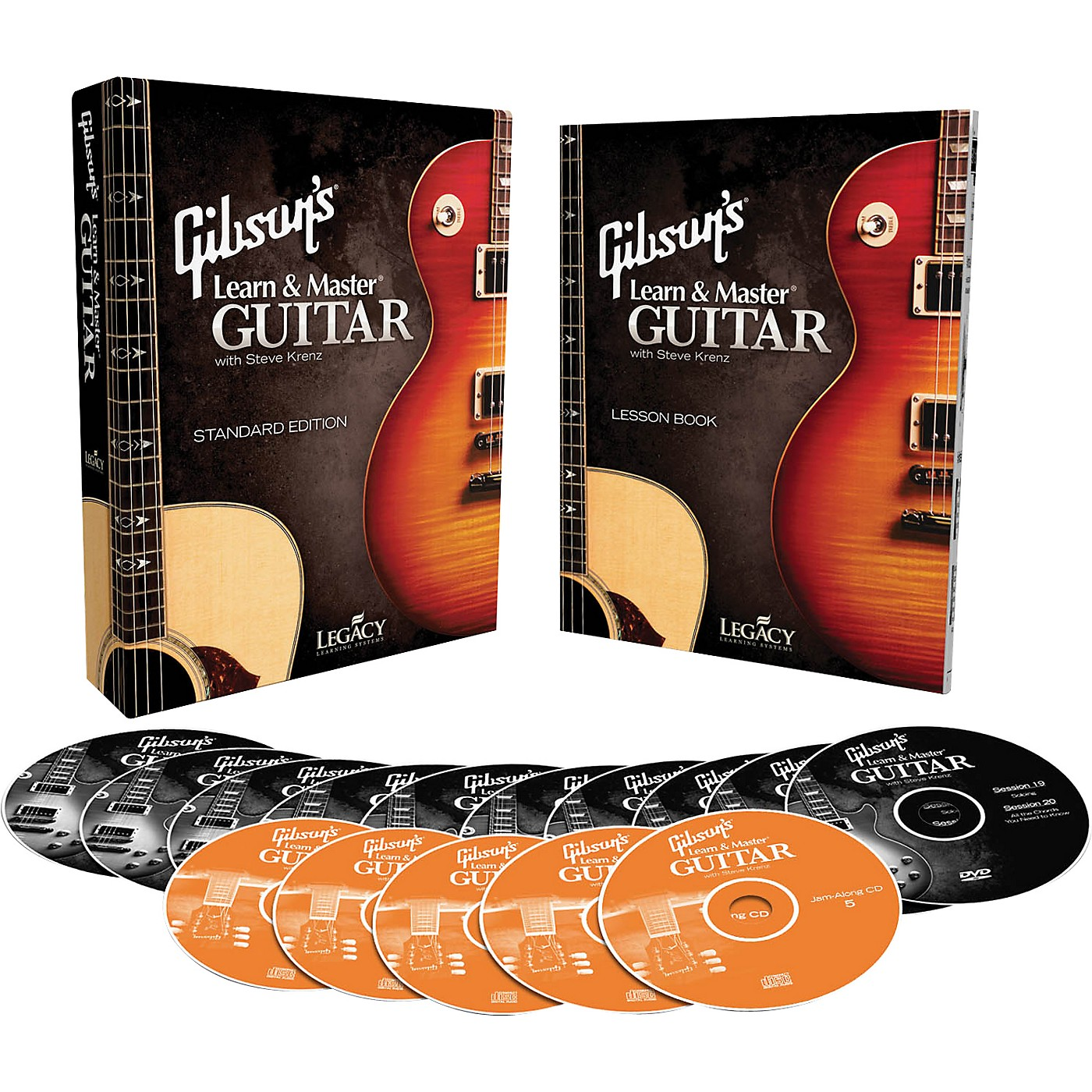 Hal Leonard Gibson's Learn & Master Guitar Boxed DVD/CD Set Legacy Of Learning Series thumbnail