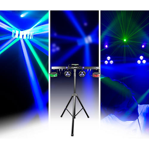 CHAUVET DJ GigBAR 2 4-in-1 LED Lighting System With 2 LED Derbys, LED Wash Light, Laser and 4 LED Strobe Lights thumbnail