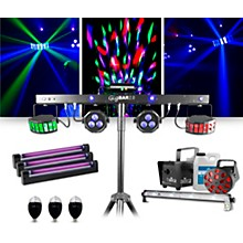 CHAUVET DJ GigBAR 2 w/ Jam Pack Diamond Blacklight and Party Bulb Lighting Package