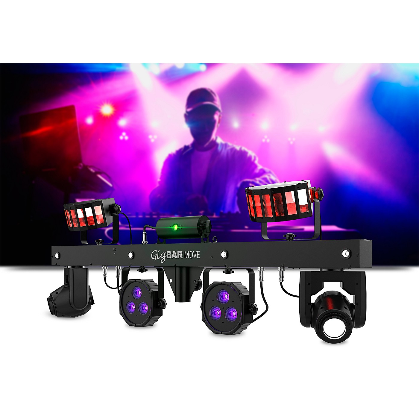 CHAUVET DJ GigBAR Move 5-in-1 LED and Laser Lighting Effects Bar thumbnail