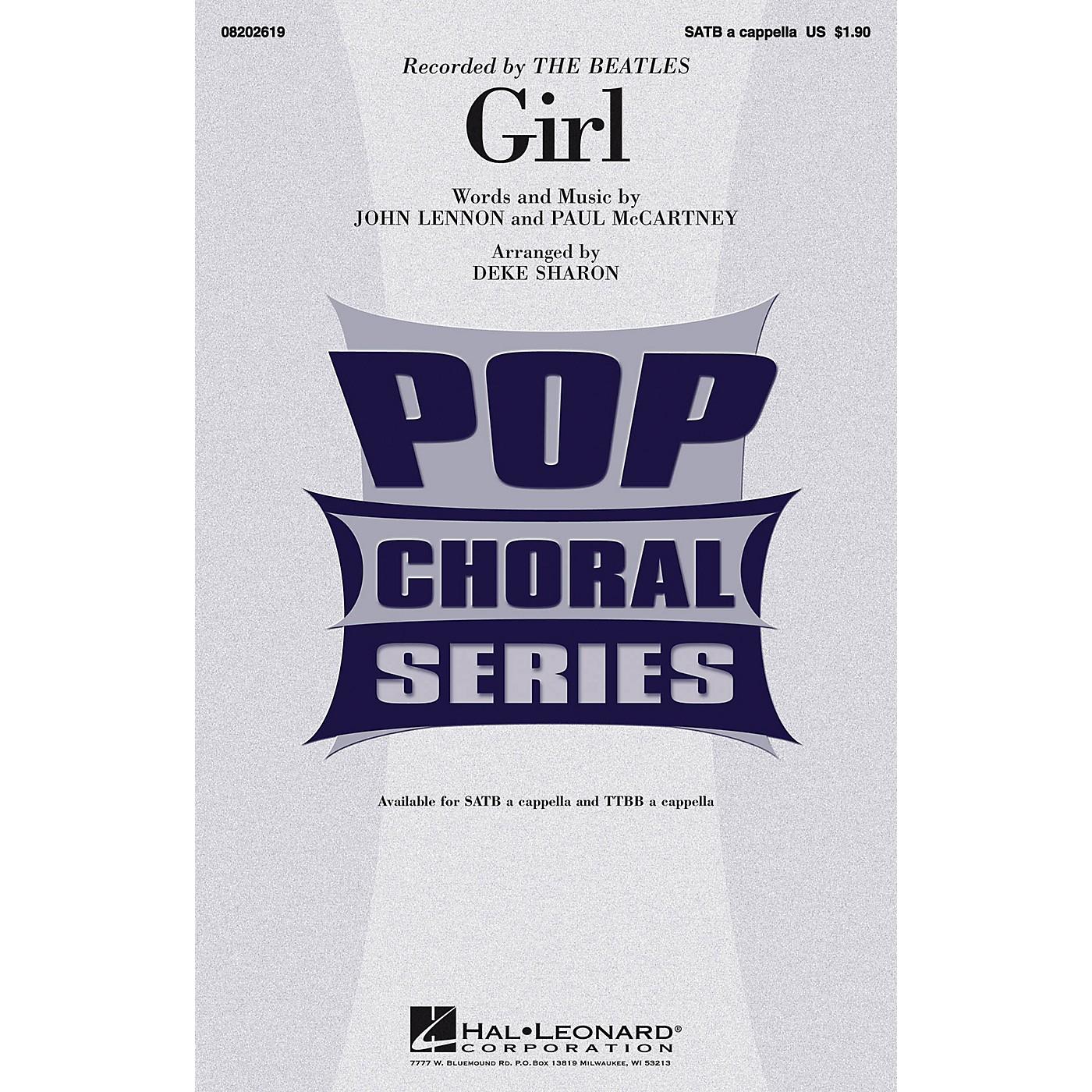 Hal Leonard Girl TTBB A Cappella by The Beatles Arranged by Deke Sharon thumbnail