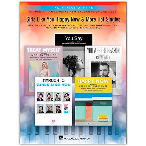 Hal Leonard Girls Like You, Happy Now & More Hot Singles - Pop Piano Hits Series Easy Piano Songbook thumbnail