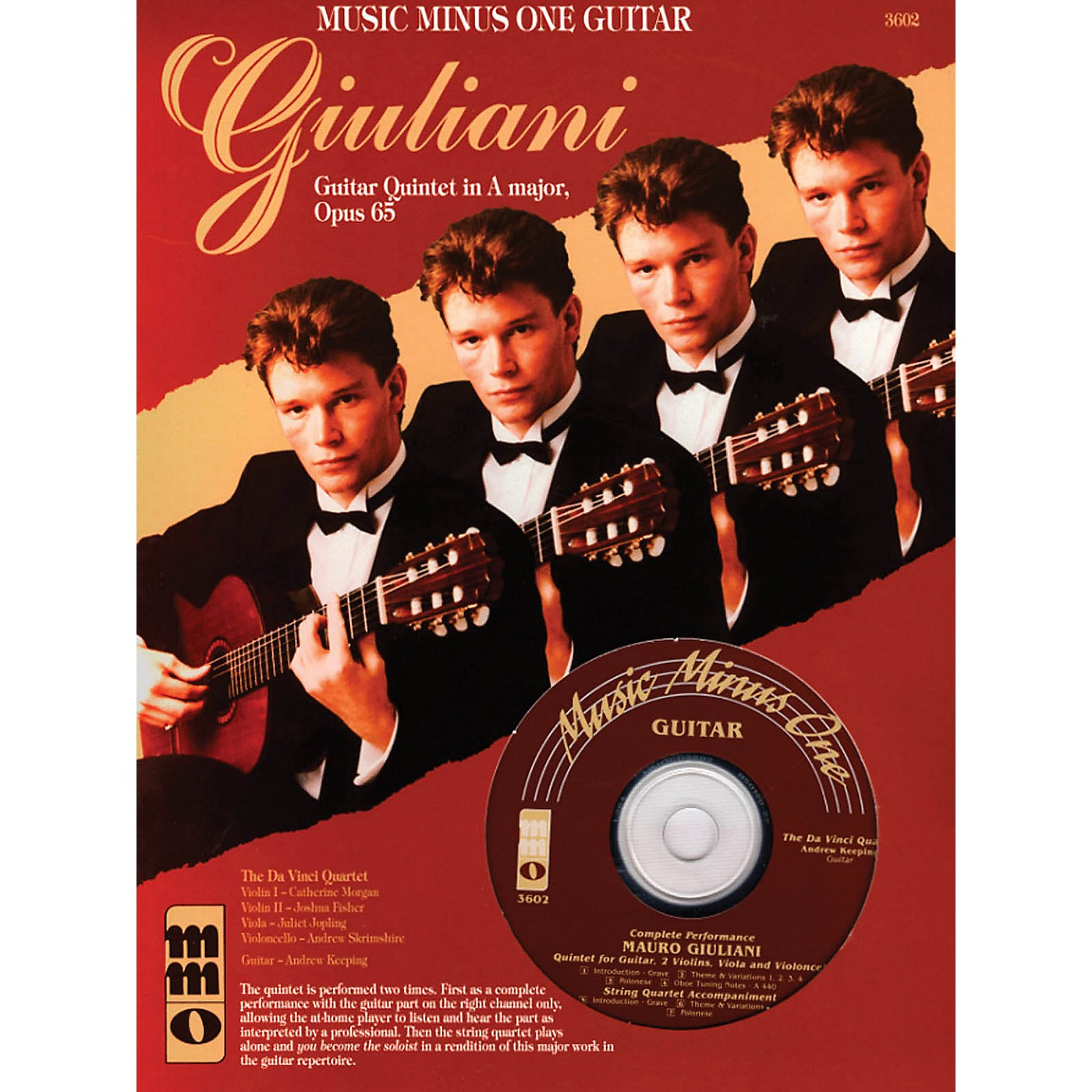 Music Minus One Giuliani - Guitar Quintet in A Major, Op. 65 Music Minus One Series Softcover with CD by Mauro Giuliani thumbnail