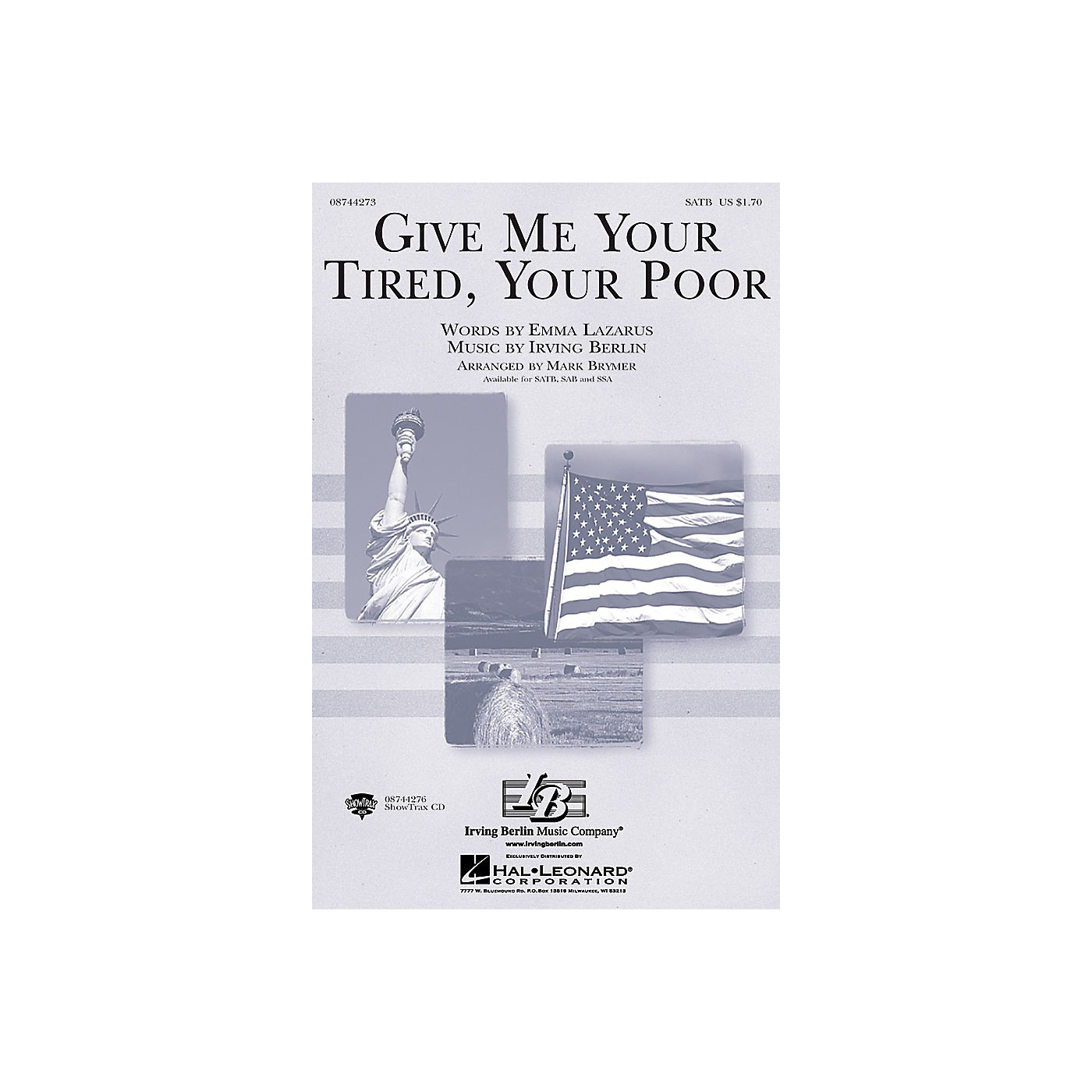 Hal Leonard Give Me Your Tired, Your Poor SATB arranged by Mark Brymer thumbnail
