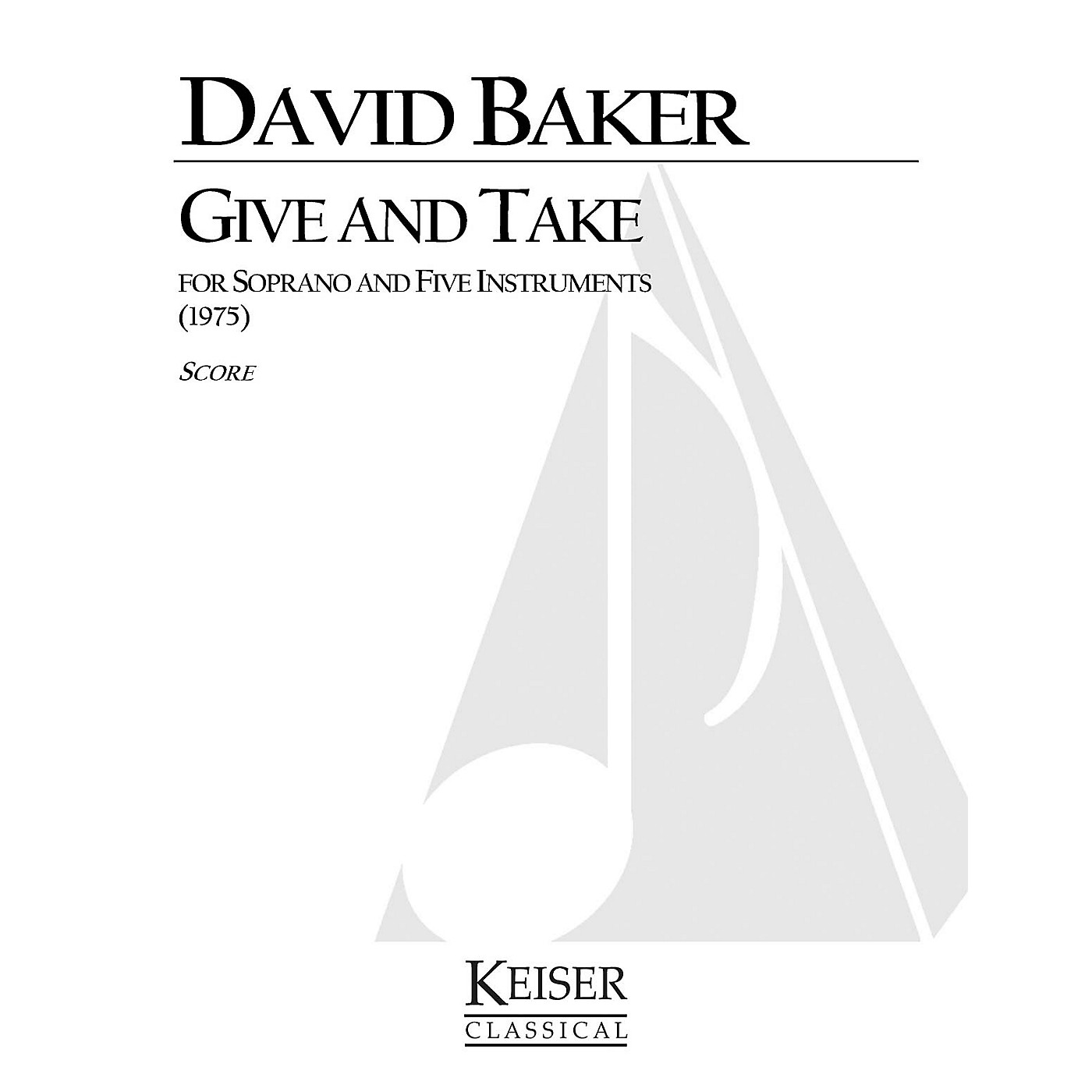 Lauren Keiser Music Publishing Give and Take LKM Music Series Composed by David Baker thumbnail