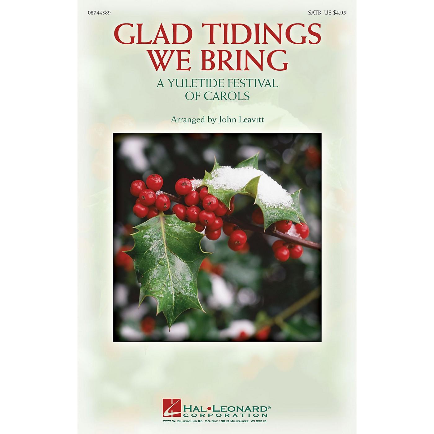 Hal Leonard Glad Tidings We Bring (A Yuletide Festival of Carols) ShowTrax CD Arranged by John Leavitt thumbnail