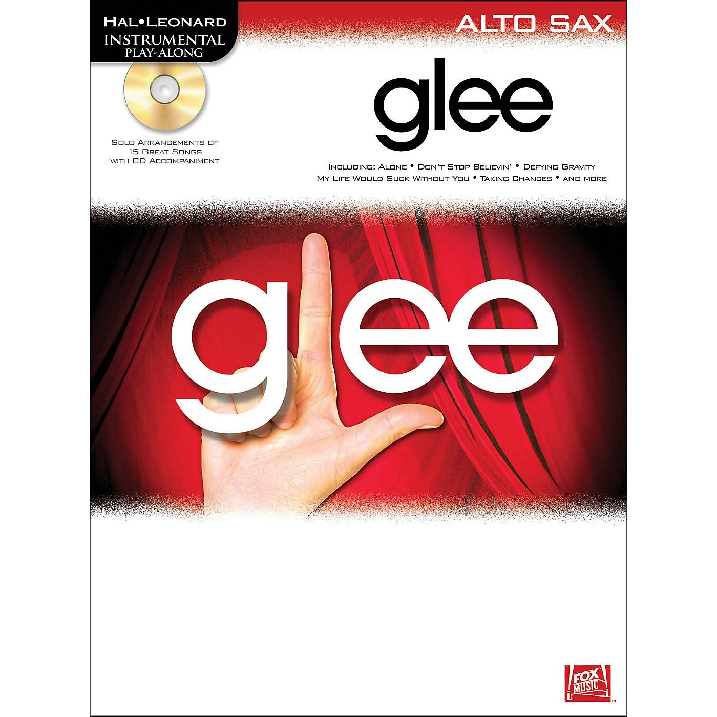 Hal Leonard Glee For Alto Sax - Instrumental Play-Along Book/CD thumbnail