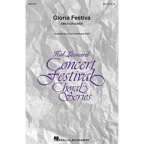 Hal Leonard Gloria Festiva SSA composed by Emily Crocker thumbnail