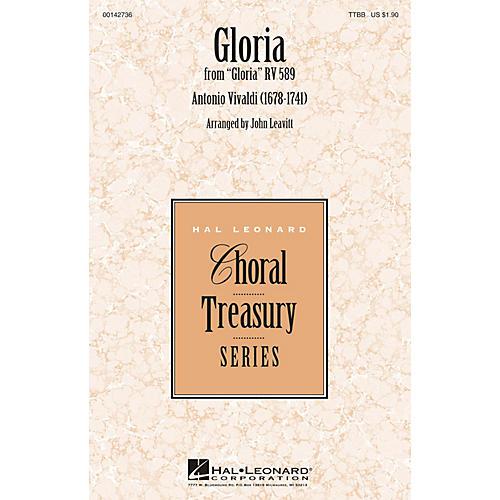 Hal Leonard Gloria TTBB arranged by John Leavitt thumbnail