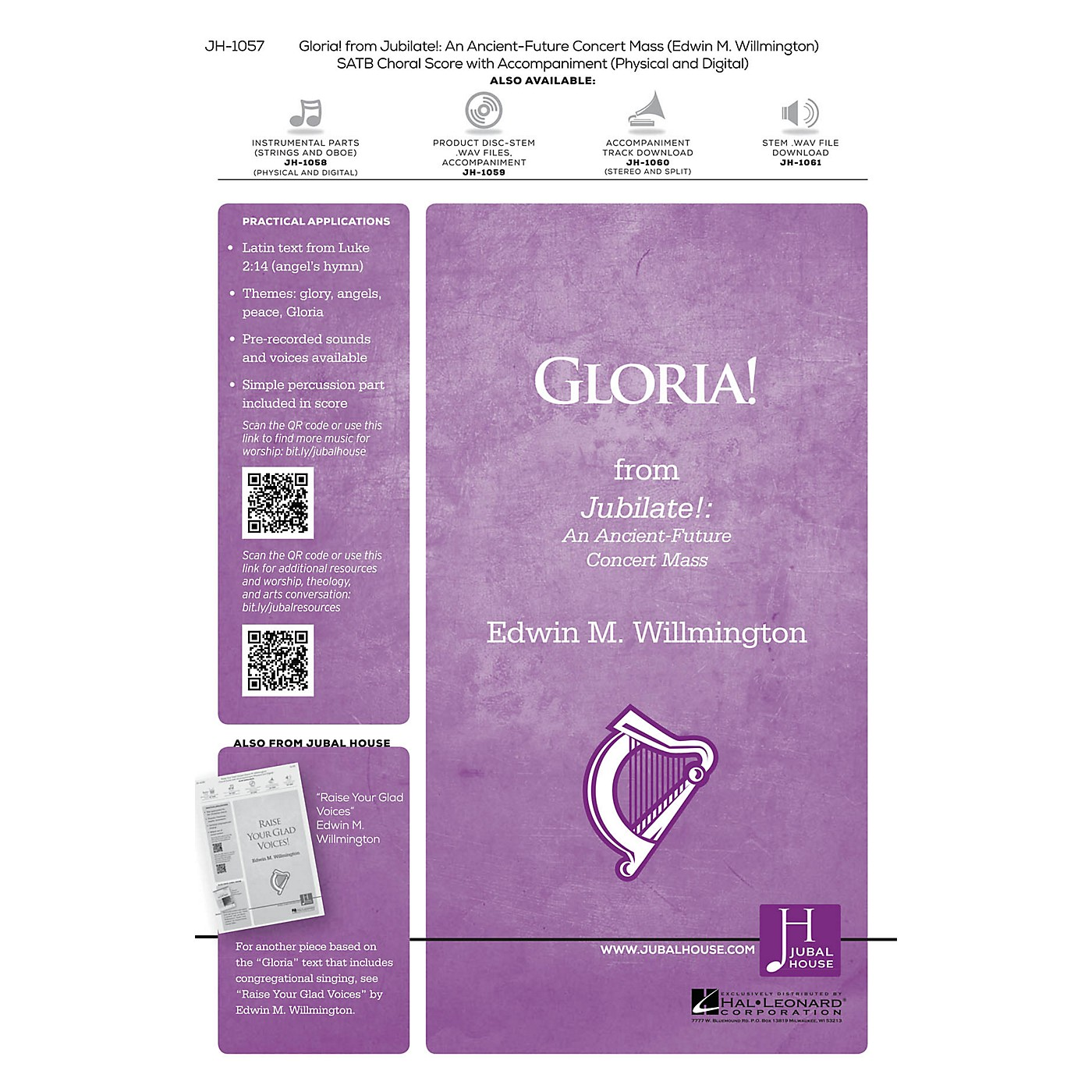 Jubal House Publications Gloria! (from Jubilate) SATB composed by Edwin M. Willmington thumbnail