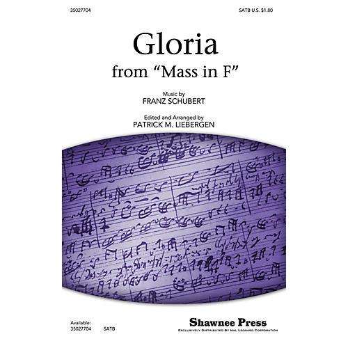 Shawnee Press Gloria (from Mass in F) SATB arranged by Patrick M. Liebergen thumbnail