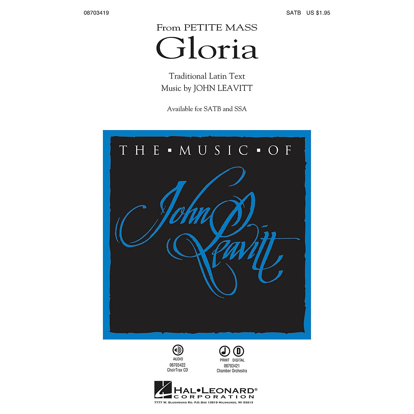 Hal Leonard Gloria (from Petite Mass) CHOIRTRAX CD Composed by John Leavitt thumbnail