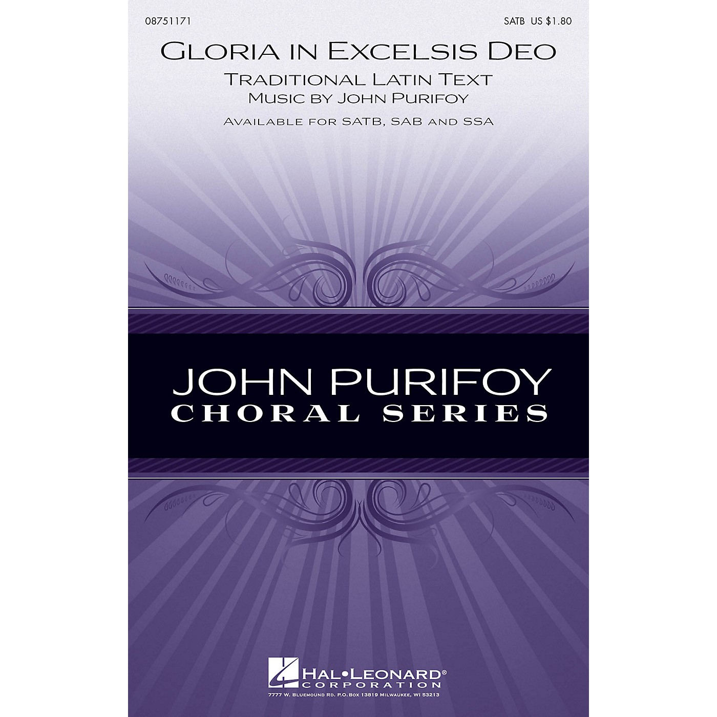 Hal Leonard Gloria in Excelsis Deo SATB composed by John Purifoy thumbnail