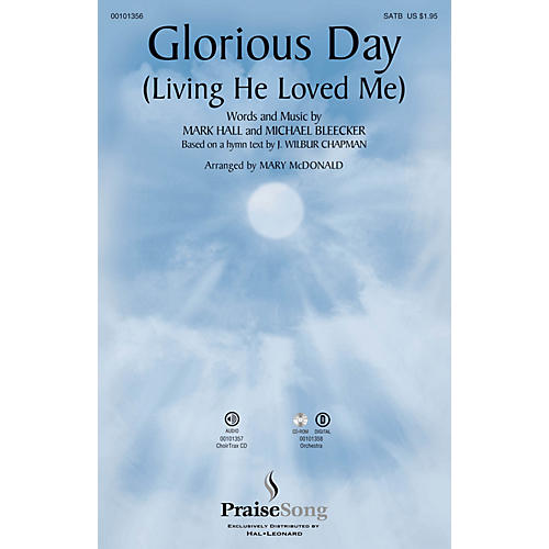 PraiseSong Glorious Day (Living He Loved Me) ORCHESTRA ACCOMPANIMENT by Casting Crowns Arranged by Mary McDonald thumbnail