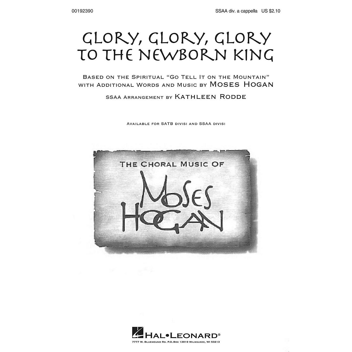 Hal Leonard Glory, Glory, Glory to the Newborn King SSAA Div A Cappella arranged by Kathleen Rodde thumbnail