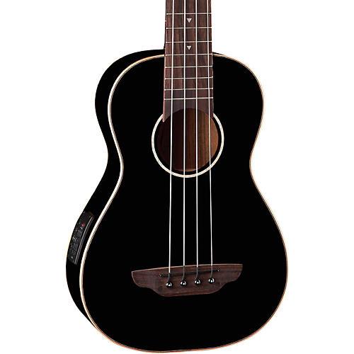 Luna Guitars Gloss Black Ukulele Acoustic-Electric Bass thumbnail